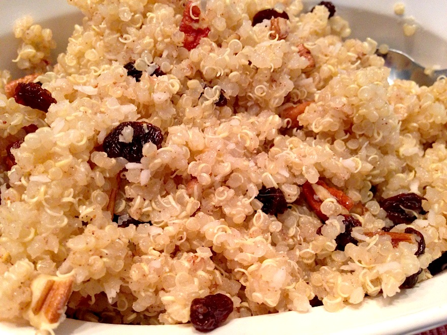 maple raisin quinoa